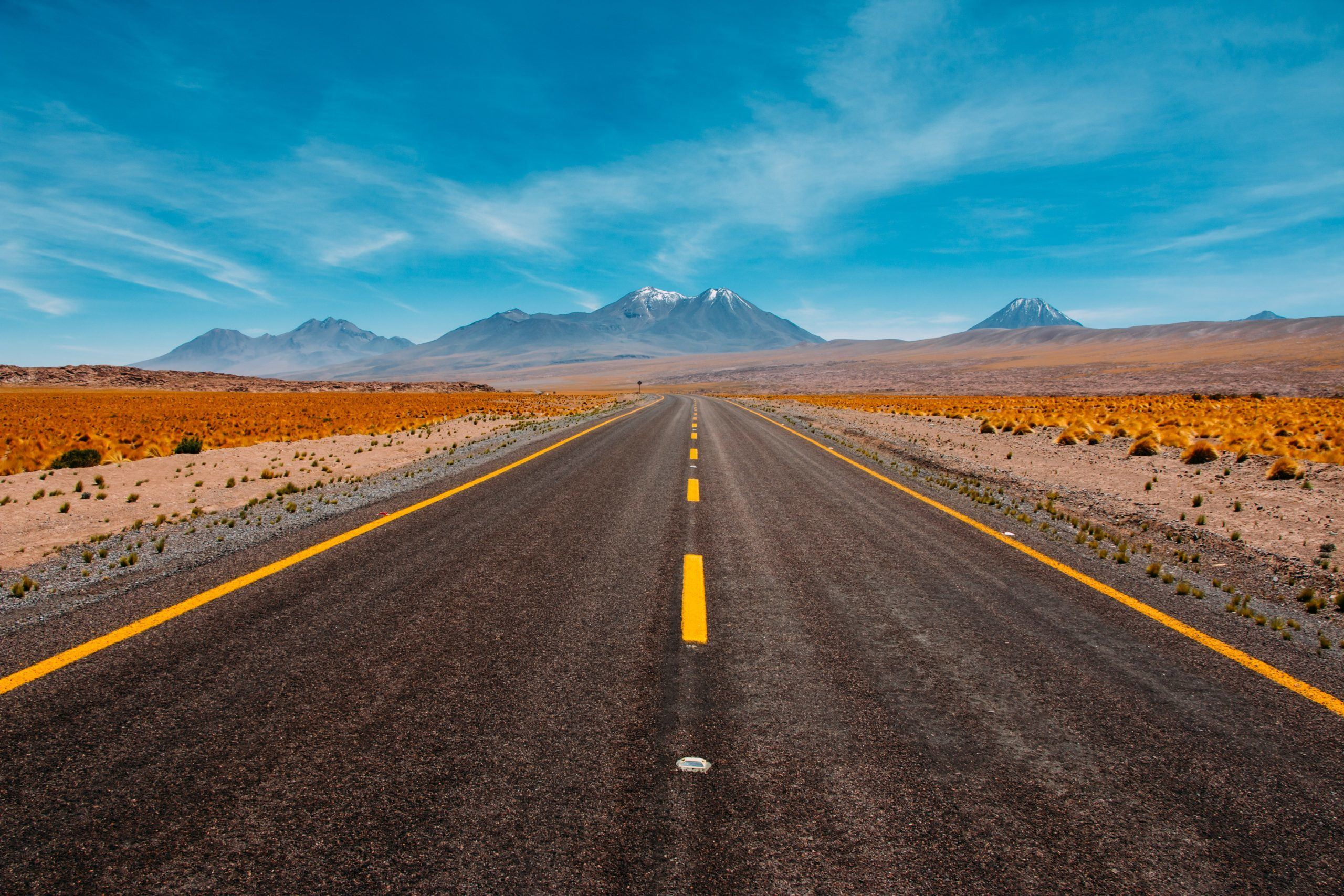 Image of a Road in the desert