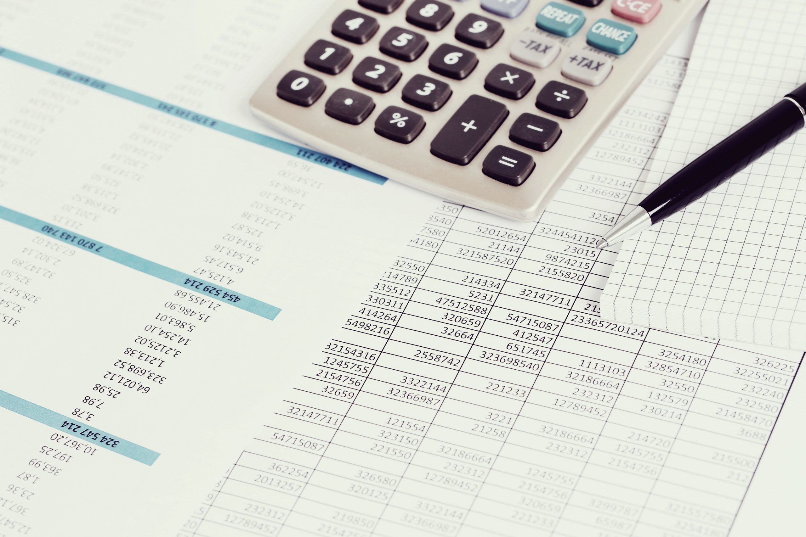 Create and Follow a Budget. Accounting documents on the table