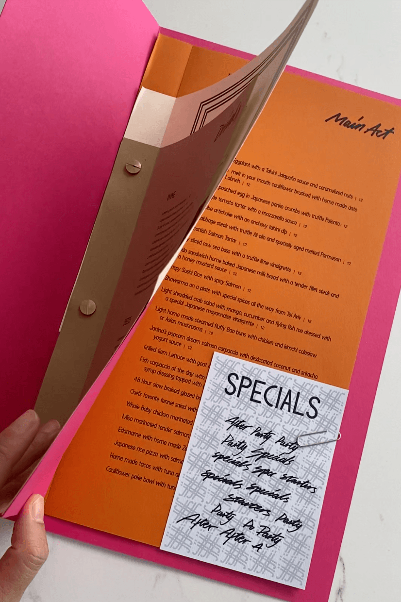 Adding New Dishes Or A Special's Menu